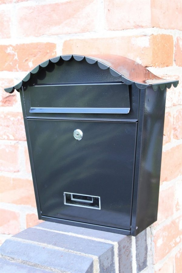 Traditional Wall Mounted Post Box-Black