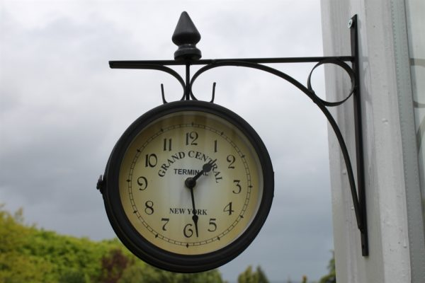Double Sided Garden Clock