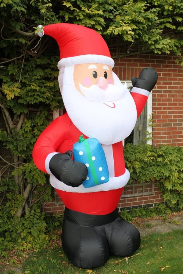 Inflatable Santa With LED Lights 3M Tall