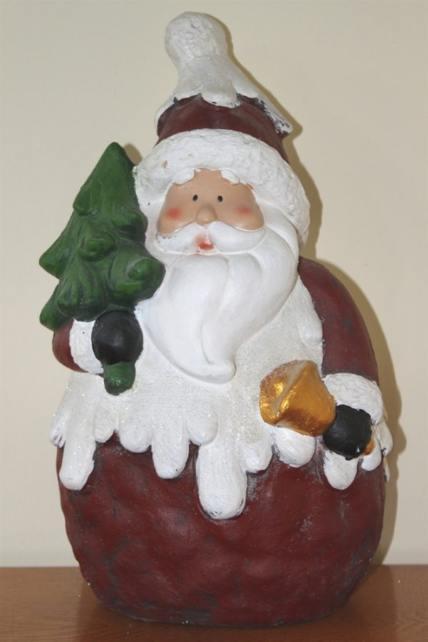 Large Polystone Father Christmas Figure 40cms Tall