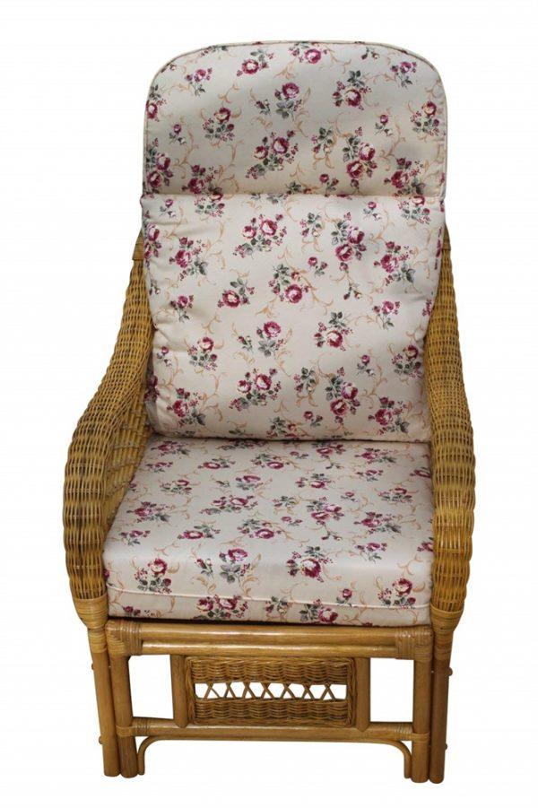 Portofino Cane Furniture -Single Chair - 'Rose'