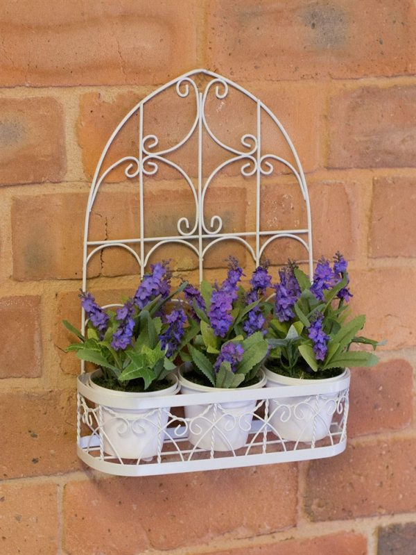 Artificial Plants - 3x Lavender pots - FL12633