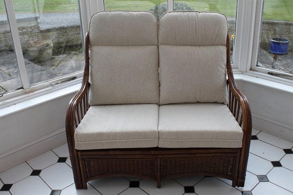 Verona Cane Furniture -2 Seater Sofa - Cream Colour