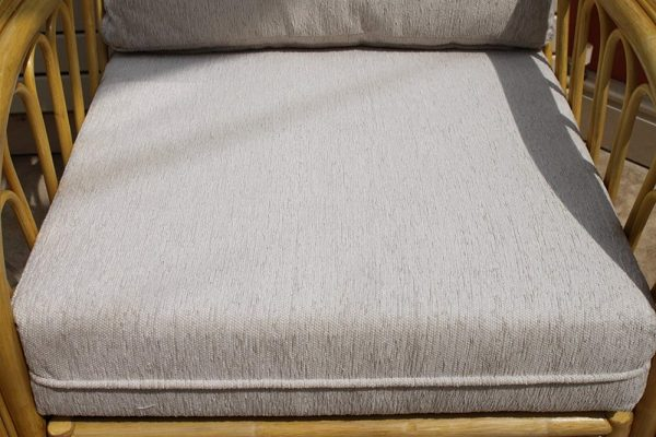 Portofino Cane Furniture -2 Seater Sofa - Cream