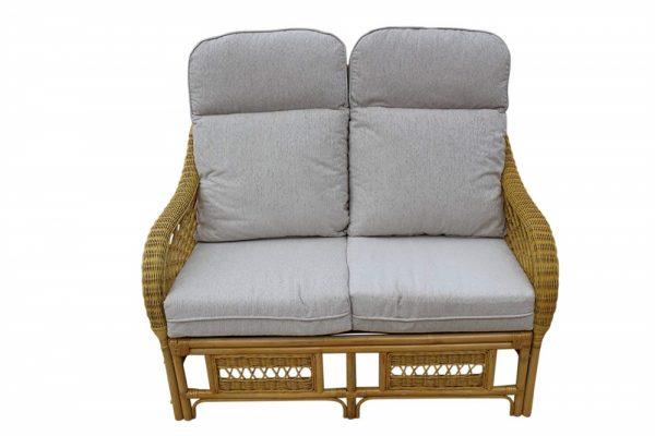 Portofino Cane Furniture -2 Seater Sofa - Cream