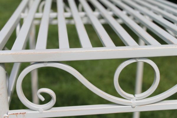 Metal Table Antique White Finish (Small Size)