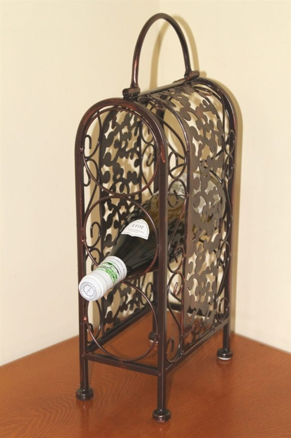 Decorative Wine Rack for 3 Bottles