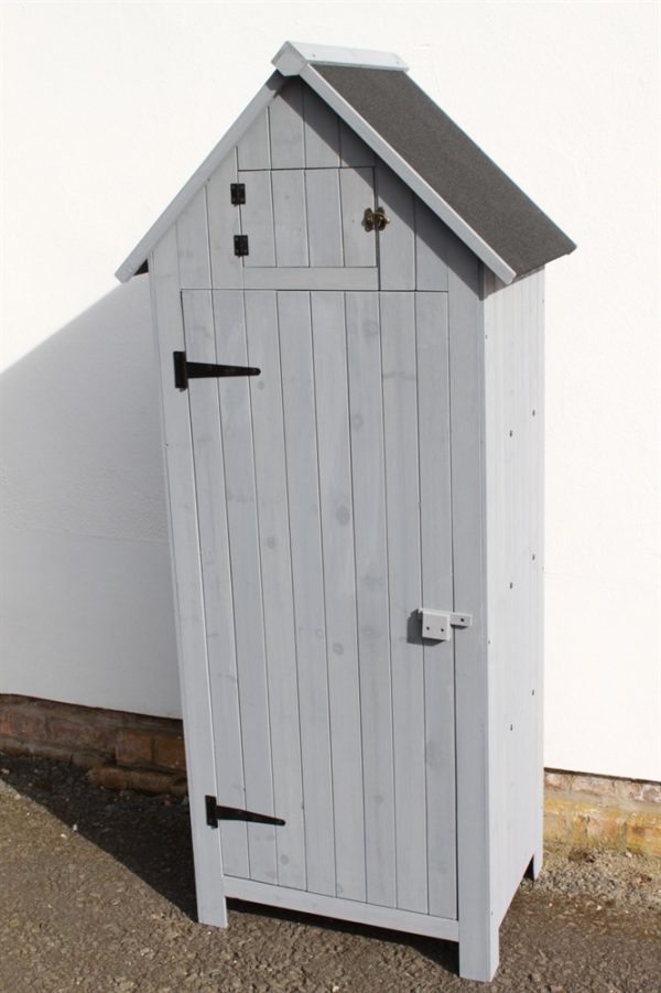 Brighton Garden Wooden Shed-WS-770-Grey
