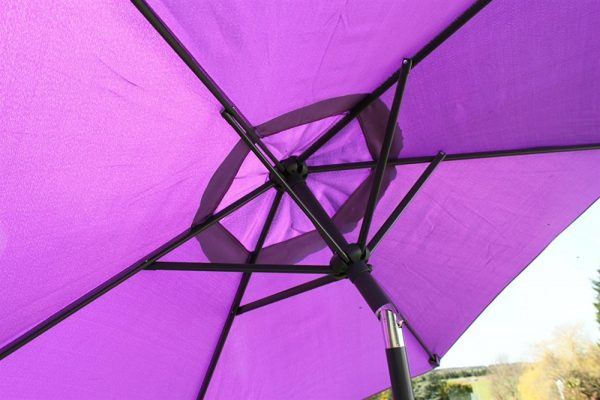 2.1M Wide Parasol With Tilt and Crank-Purple