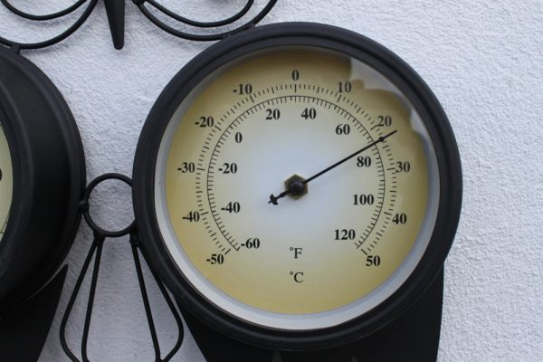 Owl Design Clock With Thermometer