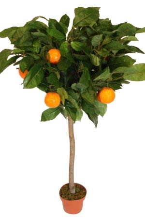 1.2M Tall Artificial Orange Tree With Pot