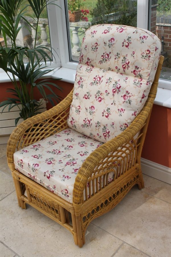 Portofino Cane Furniture -Single Chair - 'Rose'