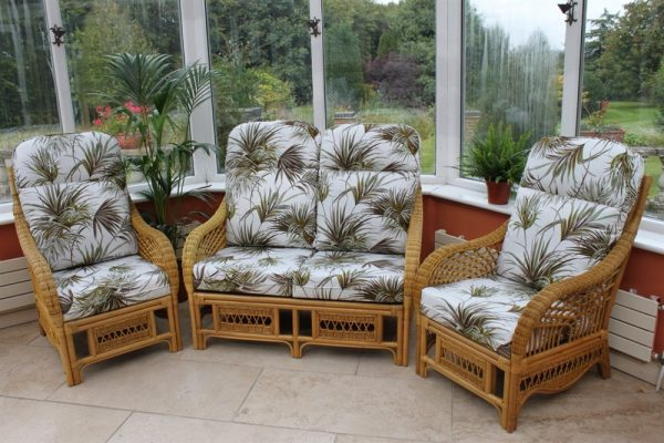 Portofino 3 Piece Suite-2 Chairs & Sofa-Palm Fabric
