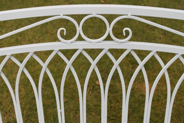 Versailles Folding Metal Garden Bench in Sage Green Finish