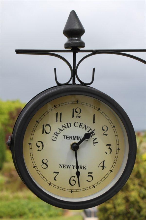 Double Sided Garden Clock