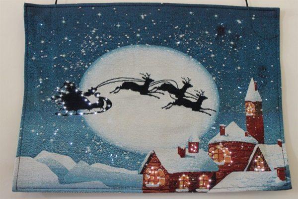 Santa & Sleigh Tapestry RW7102