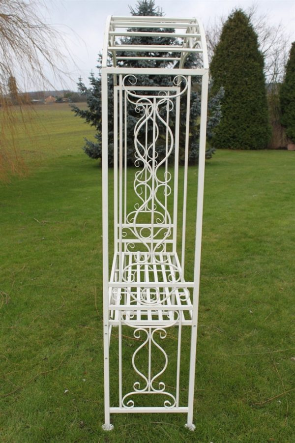 Versailles Style Metal Rose Arch and Seat