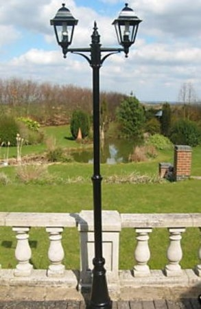 Victorian Style Double Headed Garden Lamp Post 2.2m