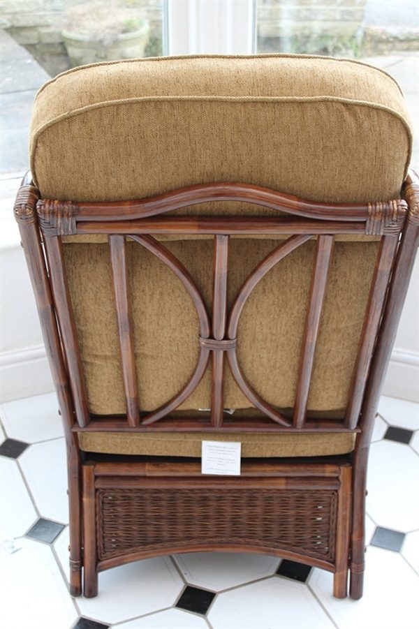 Verona Cane Duo Set- 2 Chairs & Side Table-Coffee colour