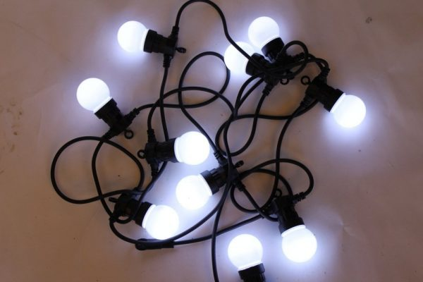 10 White LED Light Festoon Sets - For Outdoor or Indoor Use