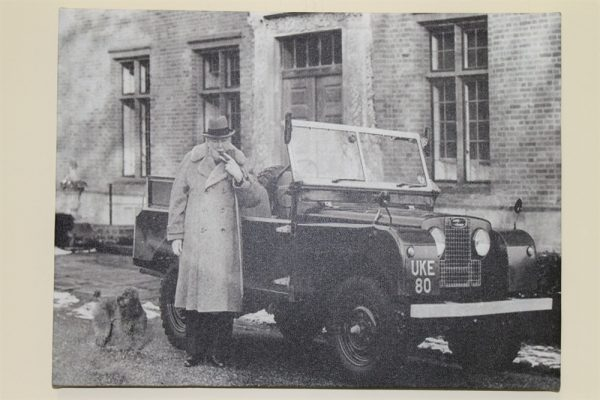 Churchill With Series 1 Land Rover -Canvas