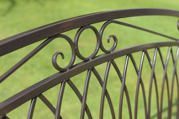 Versailles Bench Antique Bronze Finish WITH CUSHION-OGLF21-13409
