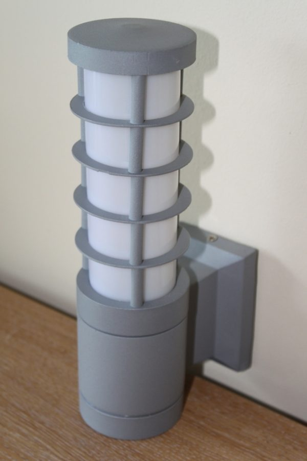 Aluminium Wall Light in a Contemporary Design & Matt Silver Finish