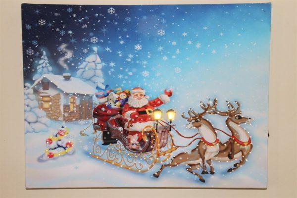 Christmas Sleigh Scene Print LED RW4040