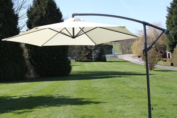 Cantilever 2.7M Wide Hanging Parasol In Cream