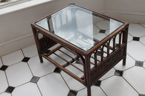 Verona Cane Coffee Table in a Mahogany Colour Finish