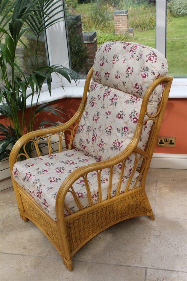 Sorrento Cane Furniture -Single Chair - 'Rose'