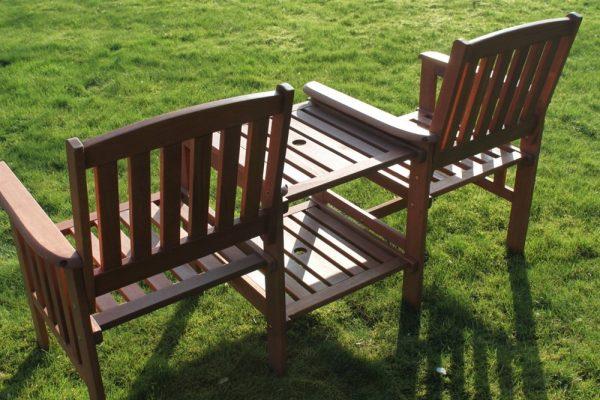 Tropicana Hardwood 2 Seater Garden Bench -Tete a Tete- Love Seat