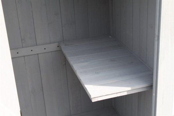 Large Brighton Garden Wooden Shed-WS-650-Grey