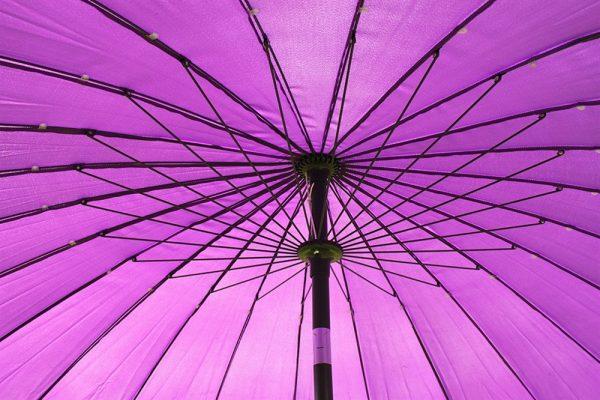 2.7M Wide Shanghai Parasol in Purple