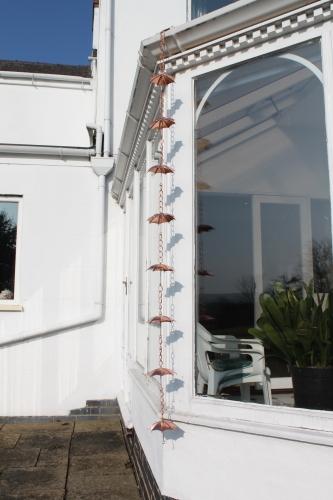 Rain Chains - Copper Plated Umbrellas-1.8M Long