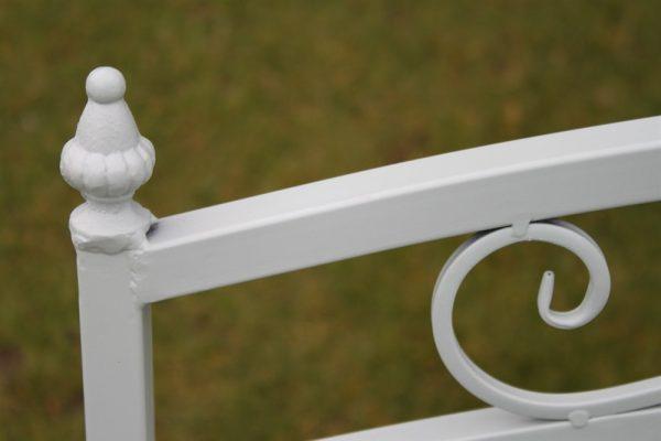Versailles Folding Metal Garden Bench in Sage Green Finish