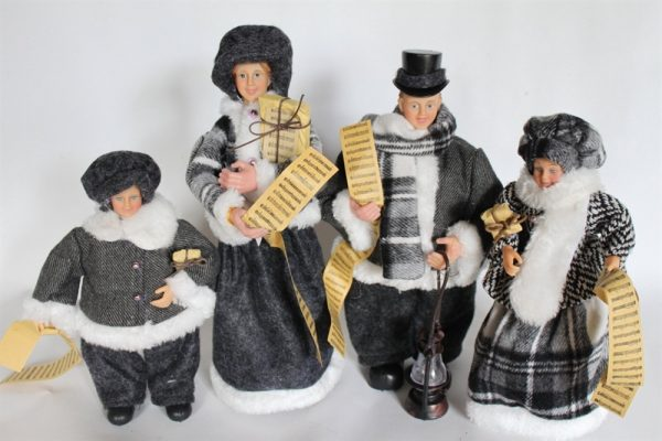 Victorian Christmas Family Choir Figures - 30cms Tall