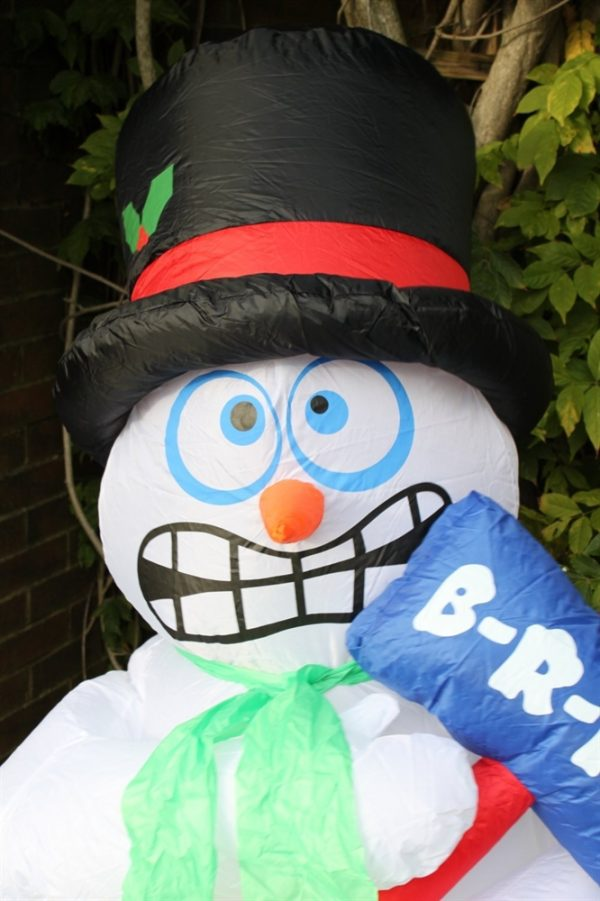 Inflatable Chattering Snowman 1.8M
