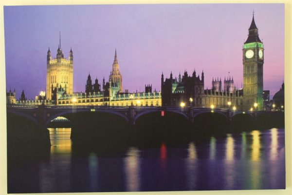 Houses of Parliament Print With LED Lights