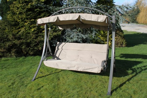 Chatsworth Heavy Duty Garden 3 Seater Swing Seat Hammock with Cushion-HC2007