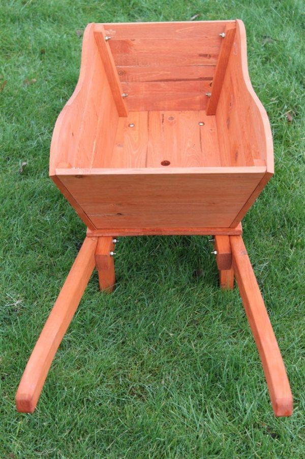 Wooden Garden Wheel Barrow Planter