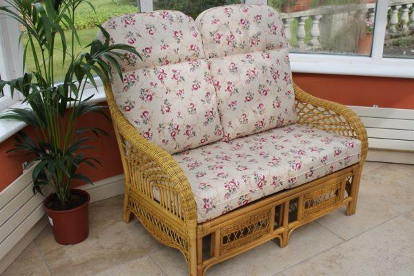 Portofino 3 Piece Suite-2 Chairs & Sofa-Rose Fabric