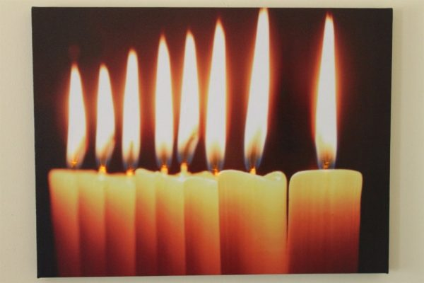 8 Natural Candles Print LED HD1672