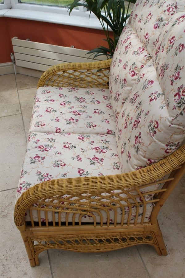 Portofino Cane Furniture -2 Seater Sofa - Rose