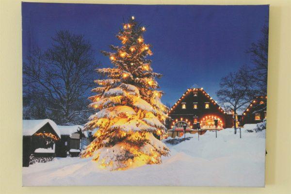 Tree Scene Canvas Print-LED-RW4004