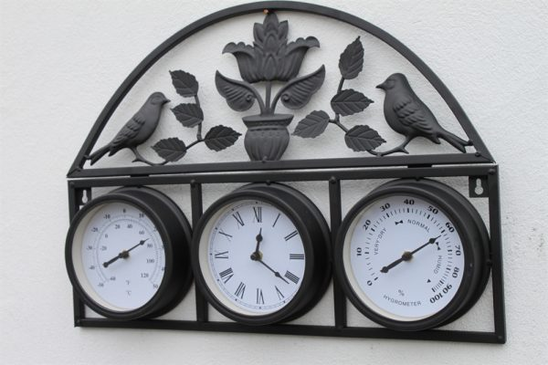 Bird and Leaf Clock, Thermometer and Hygrometer