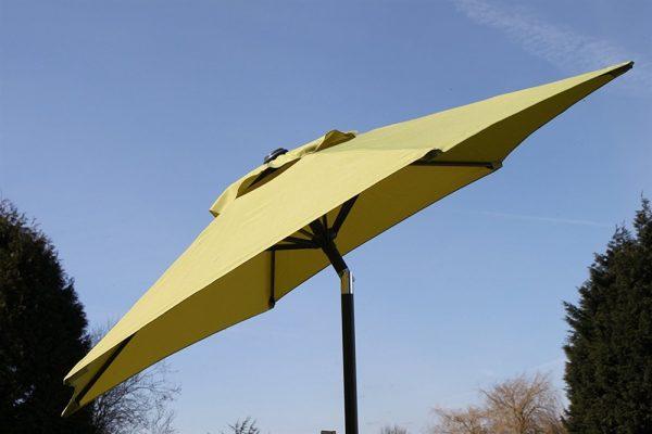 2.1M Wide Parasol With Tilt & Crank-Lime Green