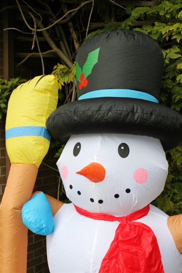 Inflatable Snowman & Broom-2.4M Tall