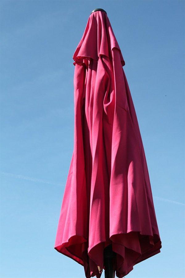 2.7M Wide Garden Parasol Tilt and Crank-Pink