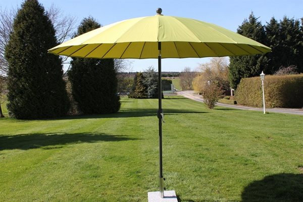 2.7M Wide Shanghai Parasol in Lime Green